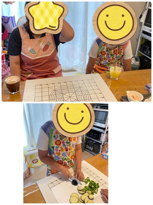遅くなってしまいましたが、親子でピザを作りに来てくれました