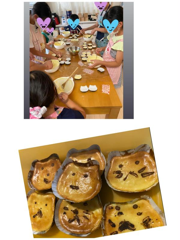 9月はネコチーズケーキおやつはポテトとパフェ