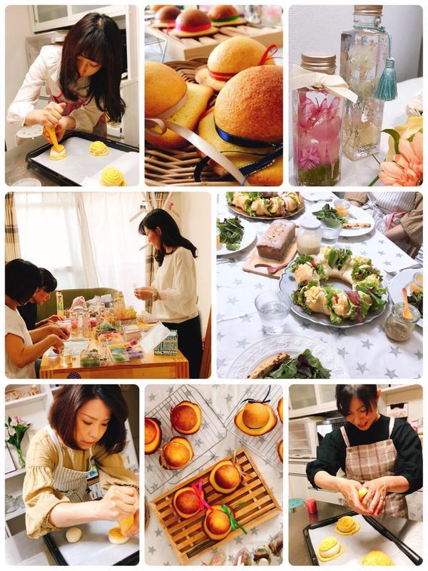 イベントレッスン 〜母の日レッスン ハーバリウムと帽子パン〜