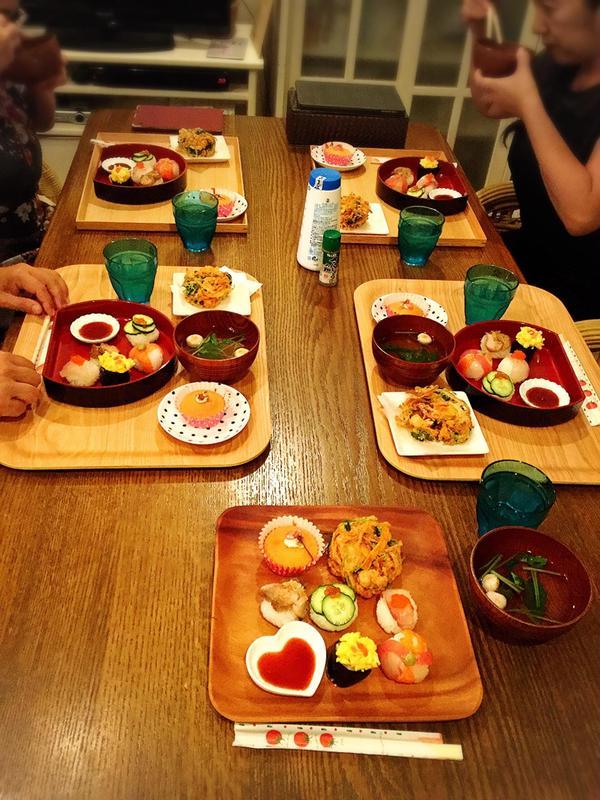 和食のレッスン 手毬寿司、かき揚げ 他