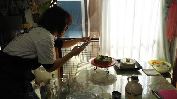 ロー抹茶ケーキのレッスンでした