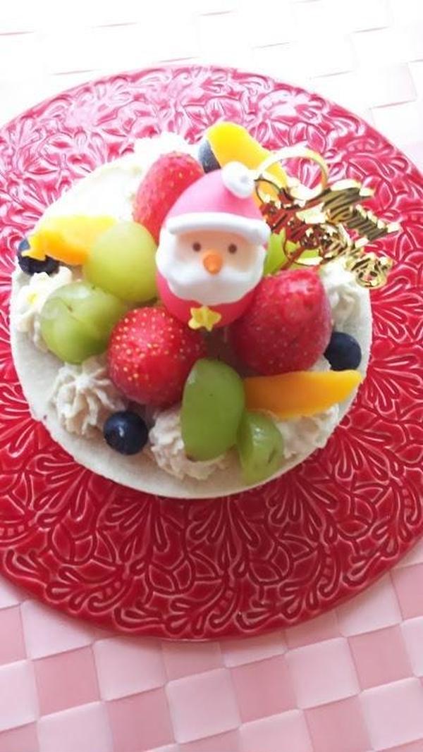 クリスマスケーキお持ち帰り付きレッスンです