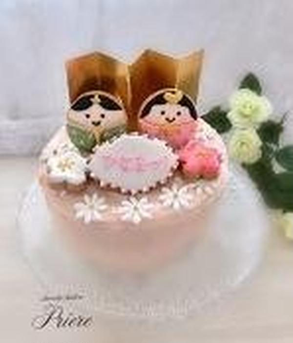 3月ひな祭りのアイシングクッキー&サンセバスチャンケーキ
