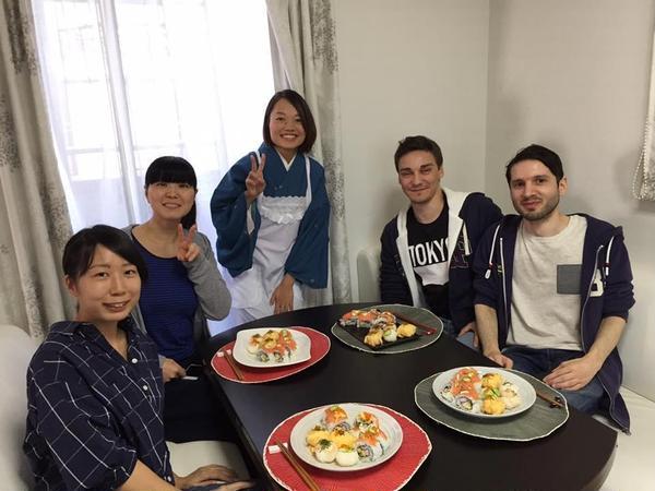 食を通して楽しい異文化交流 英会話も弾みました