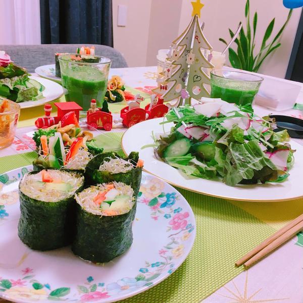 一度の食事で600g以上の生野菜と果物を摂取します☆