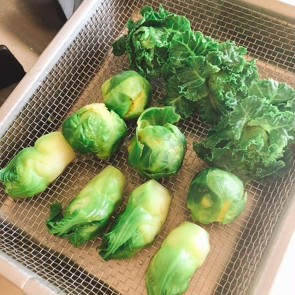 結球型の芽キャベツ、結球しないプチヴェール、つぼみ菜。