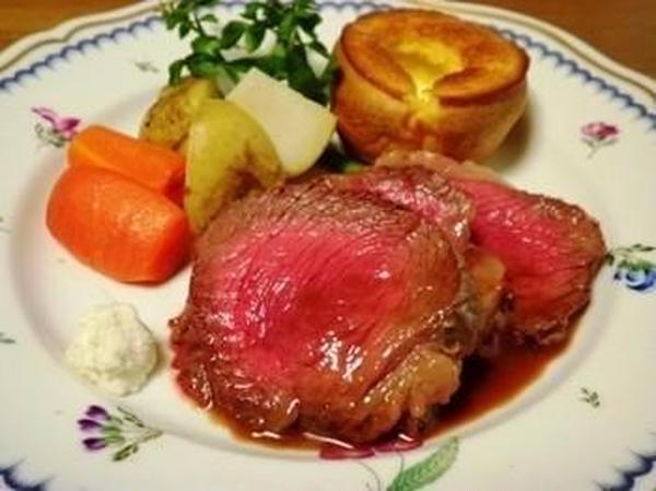 英国料理レッスンのローストビーフは皆さまに大好評!