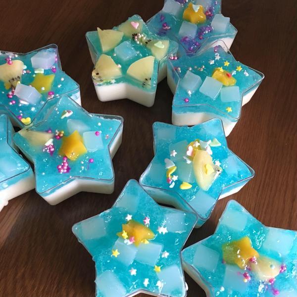 七夕週のお菓子の日はお星様ゼリーでした☆