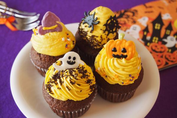 【イベントレッスン】ハロウィン・かぼちゃのカップケーキ