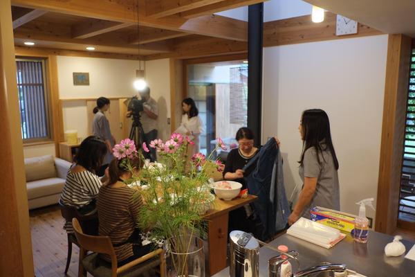 たつの教室にて 味噌つくり教室 テレビ取材(NHK)
