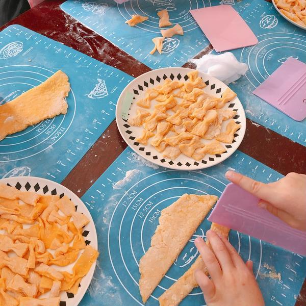 子ども達が作ったファルファッレというパスタです。
