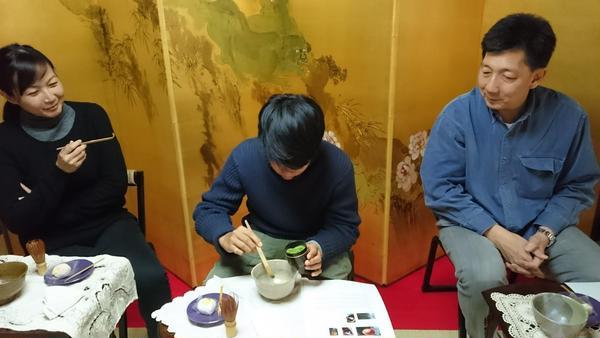 シンガポールからのお客様 茶の湯体験
