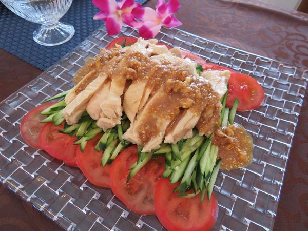 棒棒鶏サラダ&ナッツ入り特製ごまダレ
