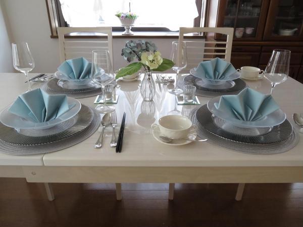 イタリア料理レッスン/夏のテーブルコーディネート