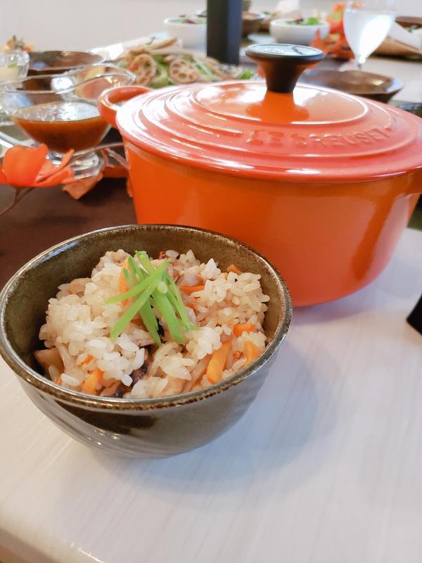 きのこの炊き込みご飯/ル・クルーゼでふっくらモチモチ