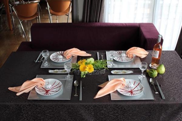 簡単なテーブルコーディネート