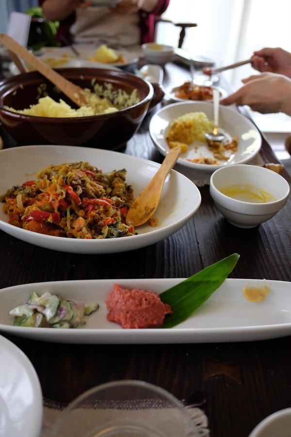 夏に開催した、南インド料理をマクロにアレンジしたポリヤルです