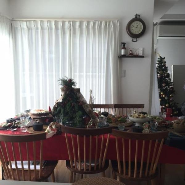 クリスマスの時のテーブルコーディネートです。