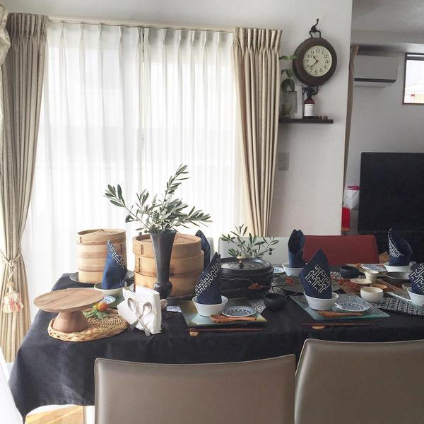 蒸し料理 小籠包をした時のテーブルコーディネートです