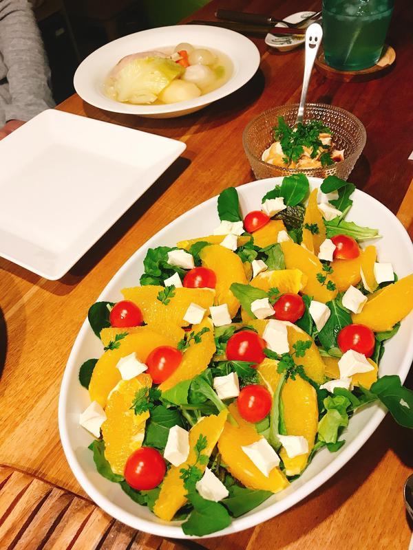 フルーツサラダは大好評でした