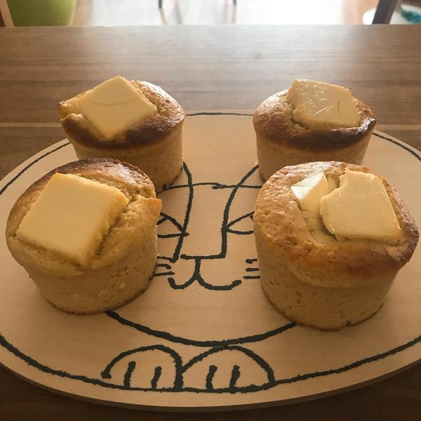 薬膳茶でのおやつ。 今回はクリームチーズのレモンマフィン