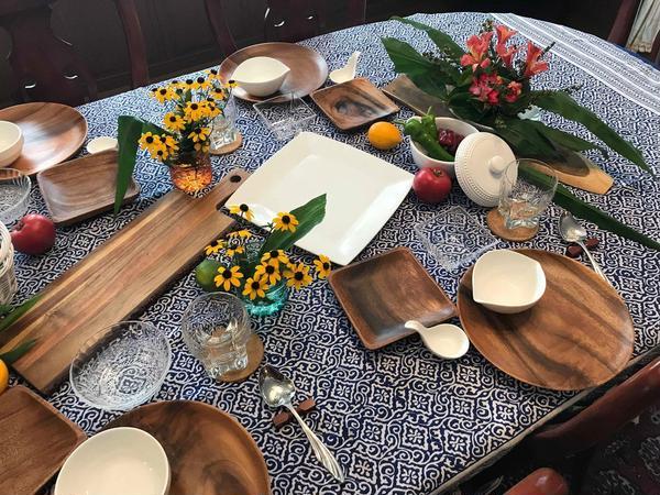 2019年料理教室テーブルコーディネイト