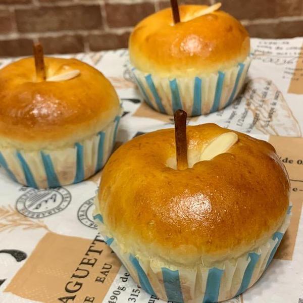 【10月2種類】りんごぱん 3個