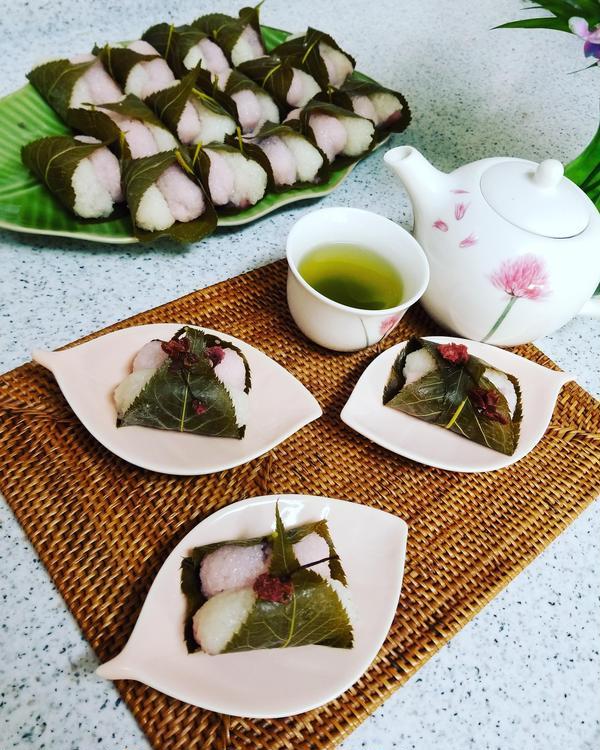 レンジで簡単二色桜餅レッスン