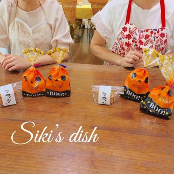 2019,9,日本クラス 薩摩芋マフィンを可愛くラッピング。