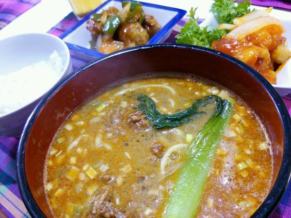 タンタン麺も本格的なお味に仕上がりました