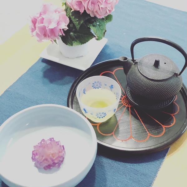 和菓子〜紫陽花