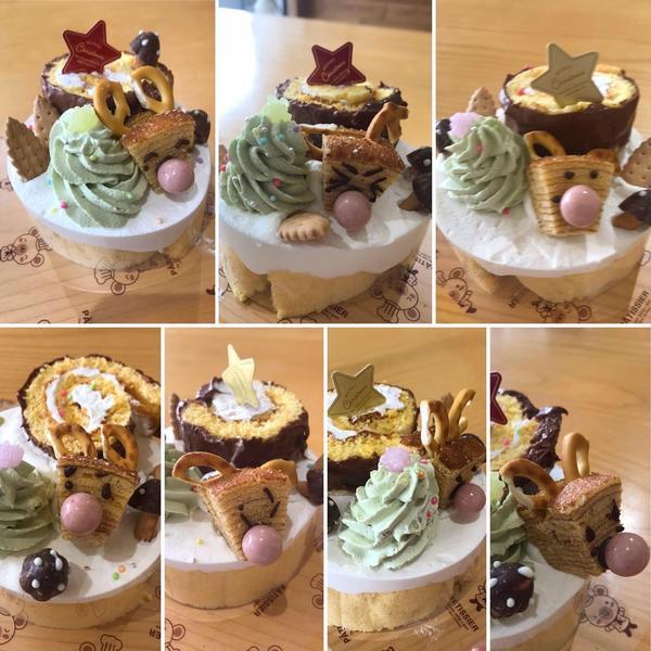 12月は毎年クリスマスケーキを作り(子どもたちの作品)