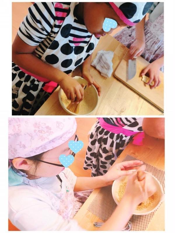 ゴマすりも子ども達が大好きな作業です