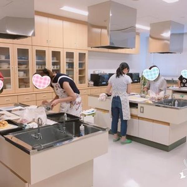 藤枝地区交流センター 調理実習室 楽しく、ケーキ作り💛