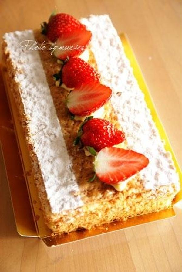 絶品いちごのミルフィーユ フランス菓子上級編スイーツ!