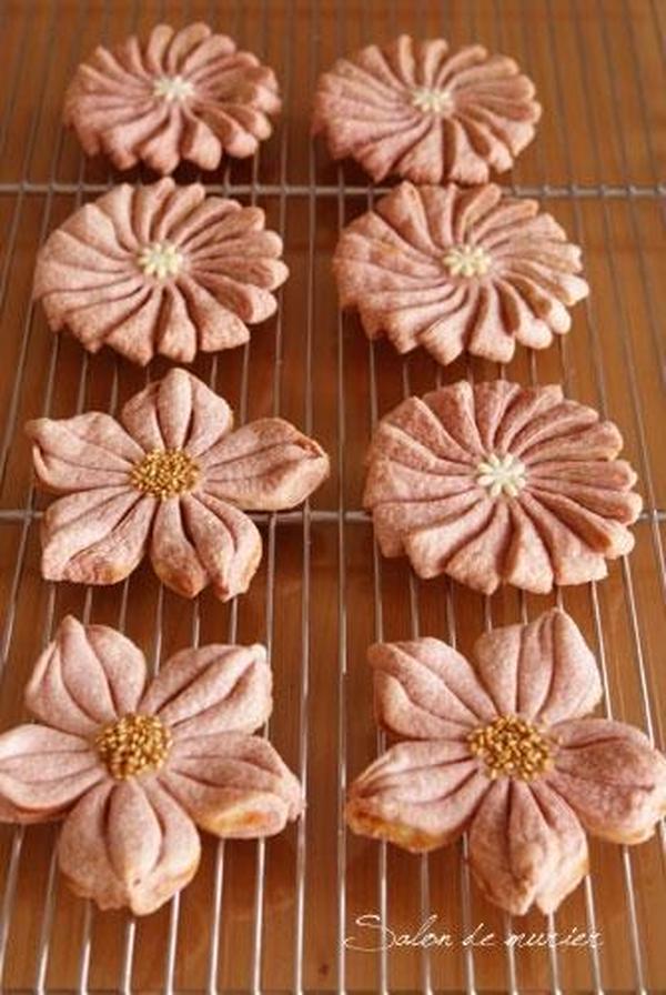 菊花酥 お花の形の可愛い中華パイ♬