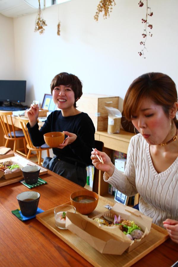 お味噌仕込み後には自家製味噌のお味噌汁と発酵ランチ