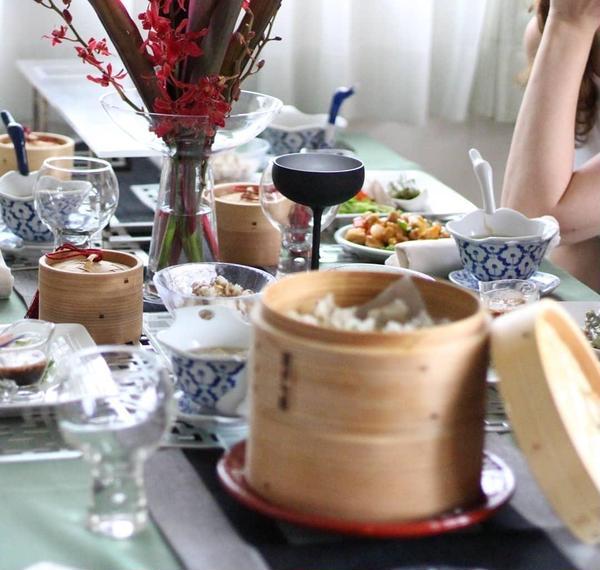 緑茶を使ったさっぱり中華レッスンでした