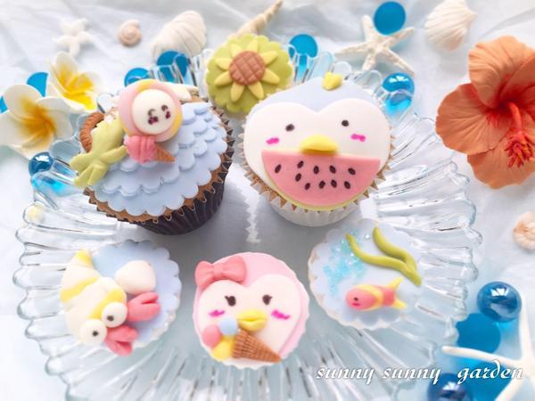 2019夏限定デザインのカップケーキレッスン♪