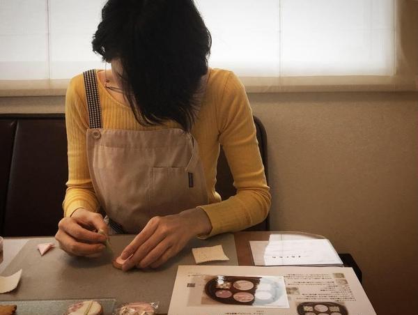 和柄アイシングクッキー。仕事休みの貴重な時間に受講。感謝!