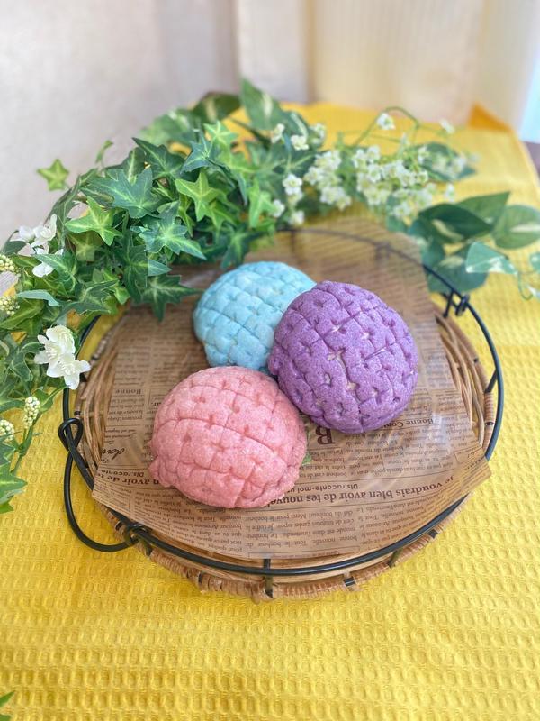 紫陽花のメロンパンdeコッタ