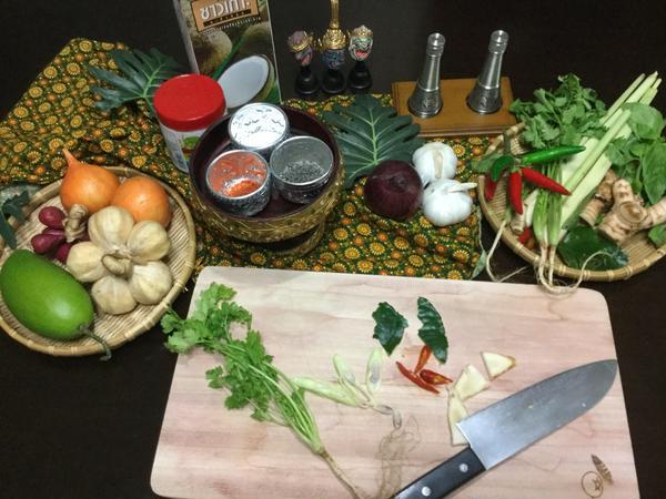 タイの食材や材料を習う