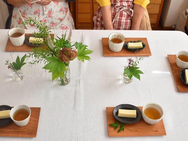 秋の発酵和みごはん デザートは、お砂糖不使用の甘酒芋羊羹