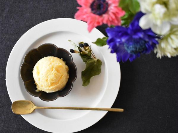 甘酒と柚子のお豆腐アイス♪