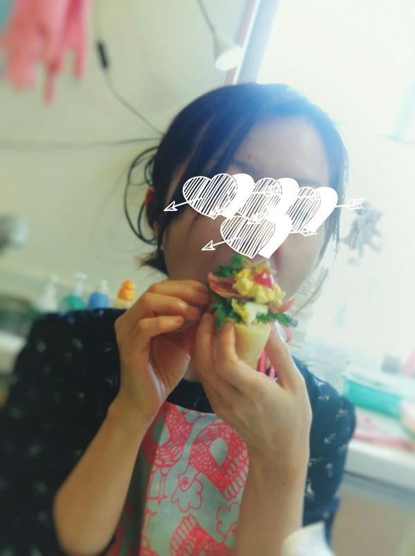 おうちパン♪タルティーヌにして!美味しい笑顔最高✨