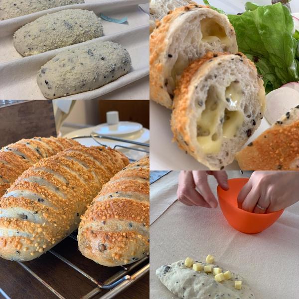 五穀とWチーズパン
