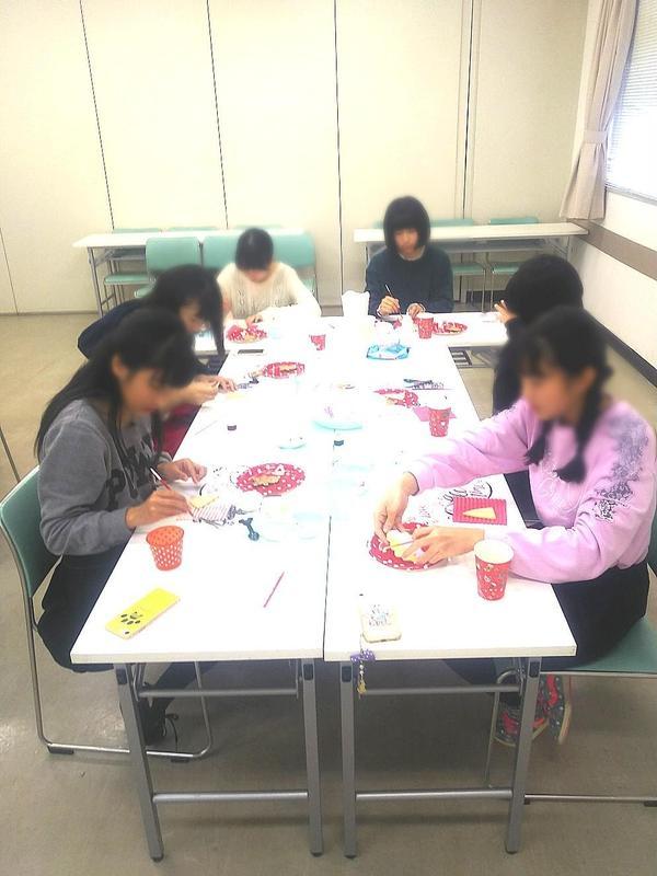 中学生のグループレッスン♪クリスマスのお菓子リクエスト