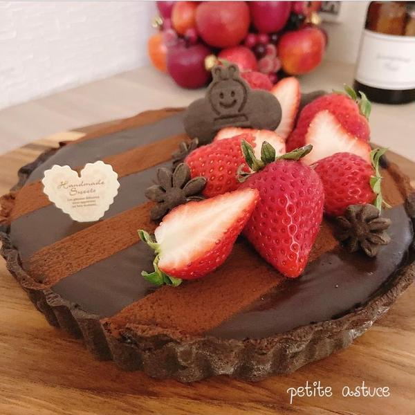 3月メニュー♡苺の生チョコタルト