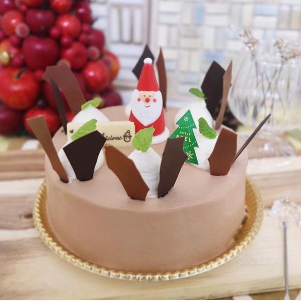 12月チョコレートショートケーキ♡クリスマスデコレーション
