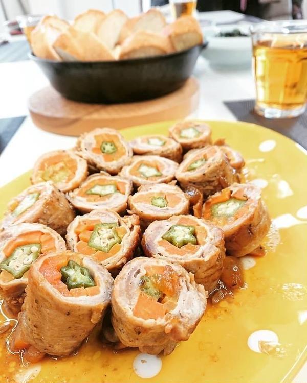 豚肉ロール☆マンゴーチャツネのソースを試食しました☆